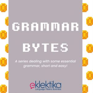 Grammar Bytes 1.0: Auxiliary verbs
