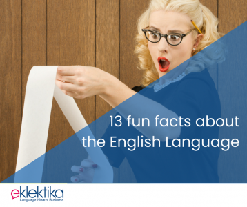 13 fun facts about the English language!